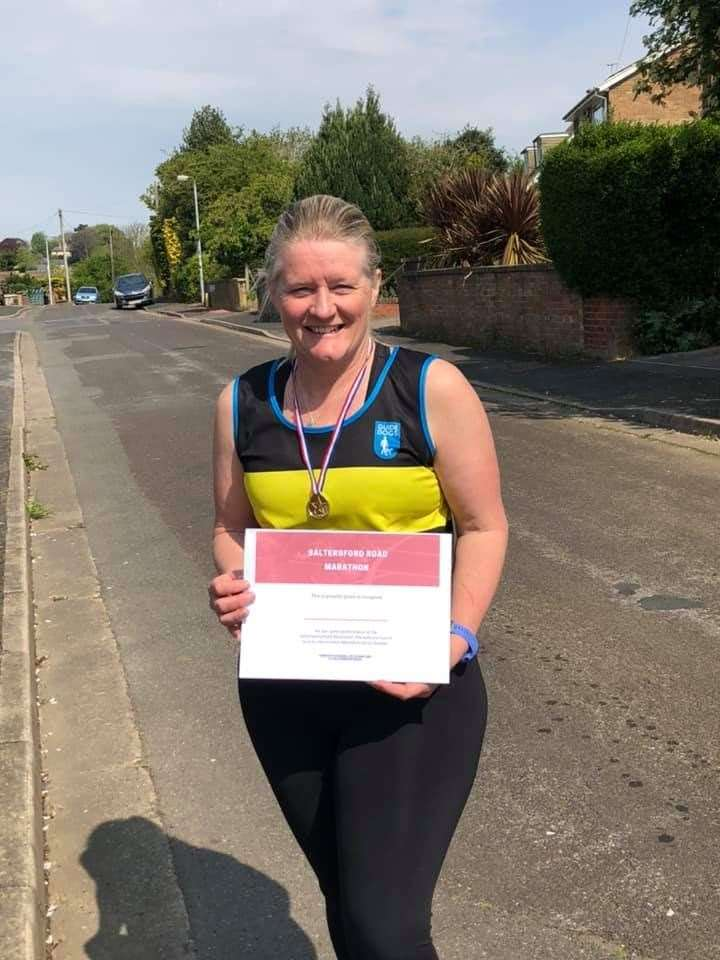 Carole Pigot completed a marathon over four days, raising over £1,400 (34147684)