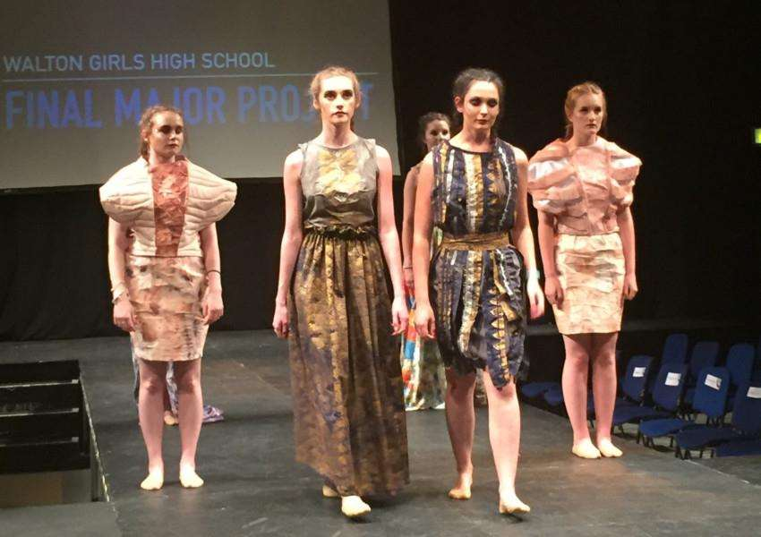 Walton girls at the annual Schools' Fashion Show, which took place in Lincoln Drill Hall.