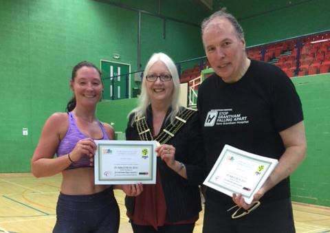Zumbathon at The Meres leisure centre. Photo: Ray Wootten