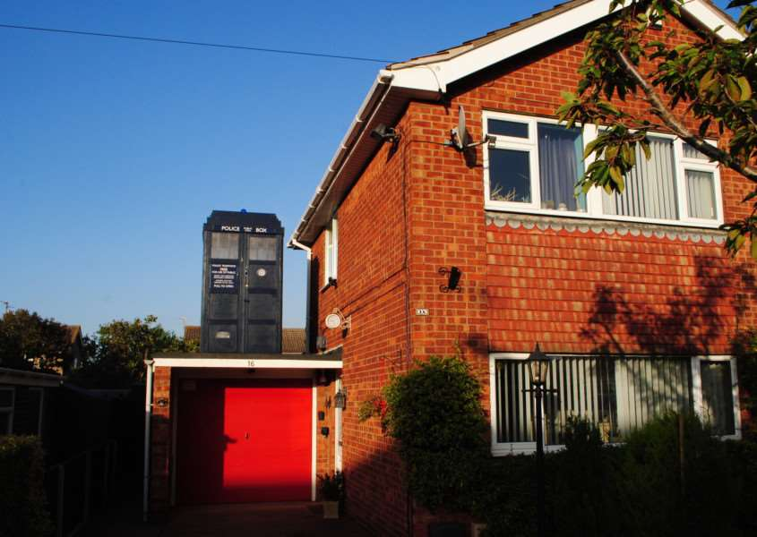 Robert Atherton's Tardis which he built on top of his garage in Grantham.