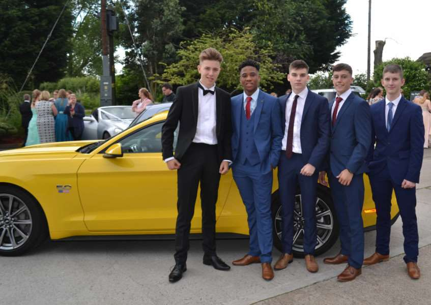 Sir William Robertson Academy pupils arrive in style at their prom. EMN-160727-102757001