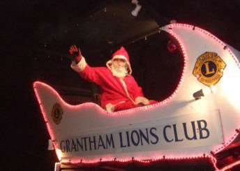 Santa visits Grantham to support Grantham Lions Club