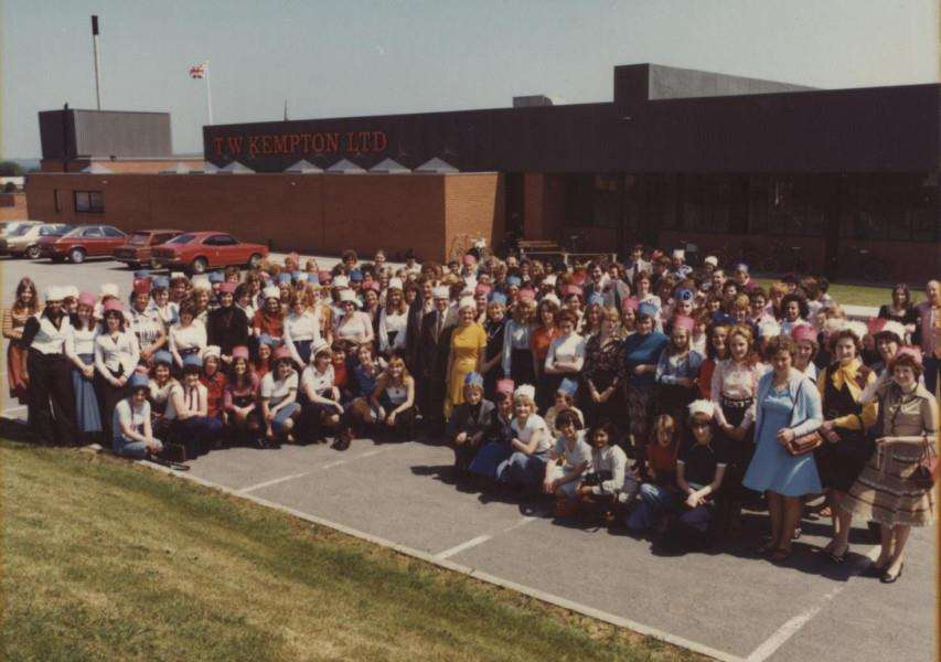 Memory Lane: The staff of T.W.Kemptons knitwear factory gather to honour the Queen's Silver Jubilee. Photo courtesy of Sally Weston.