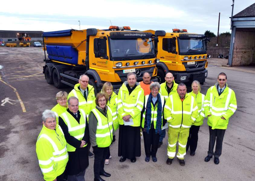 Gritter lorries in Lincolnshire