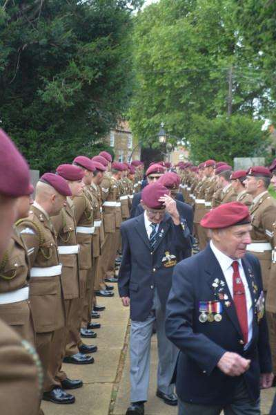 Tribute was paid to Arnhem veterans by serving officers at the Caythorpe commemoration.