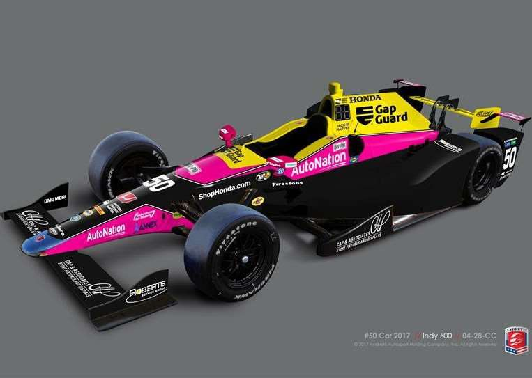 Jack Harvey's Indy Car for his Indianapolis 500 debut next Sunday.