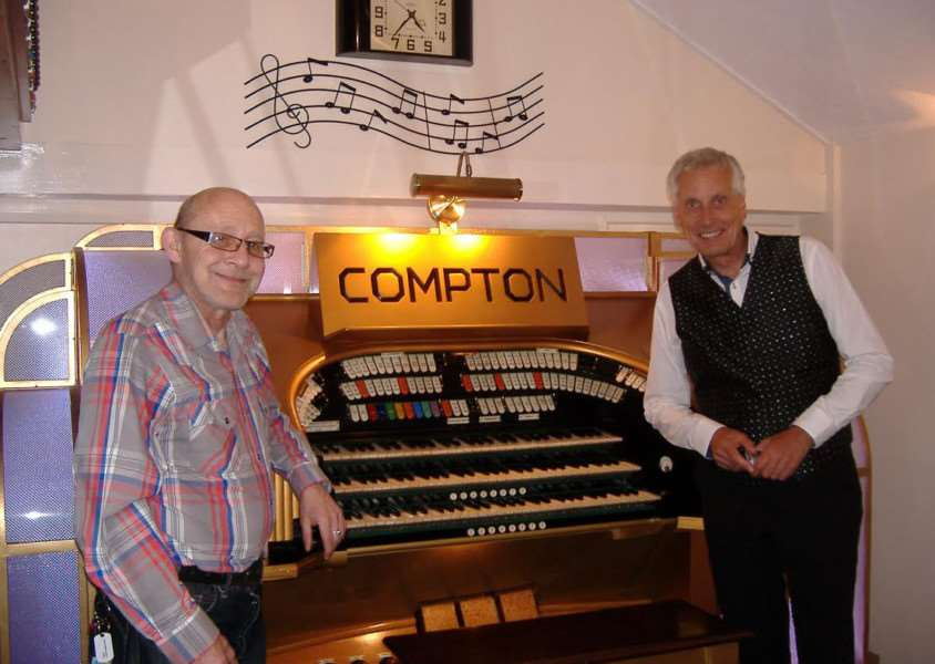 Gravity FM's Dennis Kay with Mike Hall and the Mightly Compton Cinema Organ