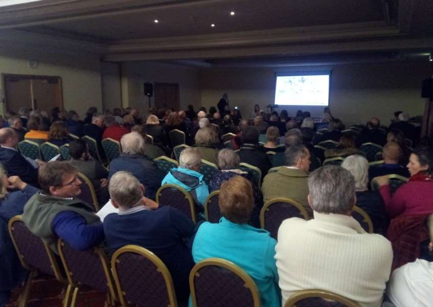 About 100 people attended a meeting hosted by Mick George Ltd on its plans to quarry near Denton and other villages.