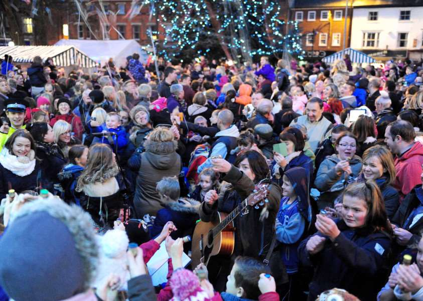 Crowds will gather to sing Christmas carols