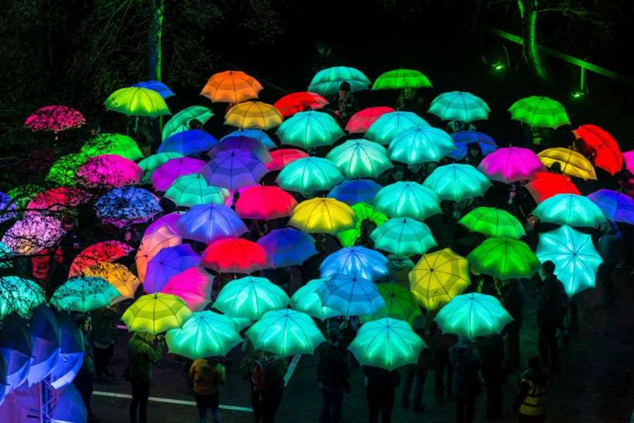 The LED Umbrella show is set to dazzle festival goers.