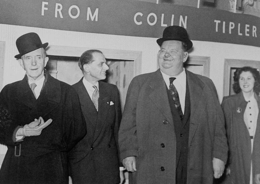 Laurel and Hardy in Grantham, 1952.