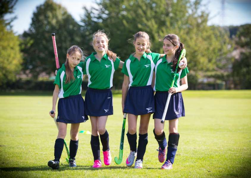 Hockey - just one facet of Walton Girls' sports development programme. Photo: Photogoff