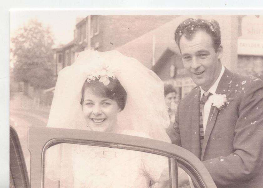 Noel and Christine were married on Christine's 22nd Birthday in 1963