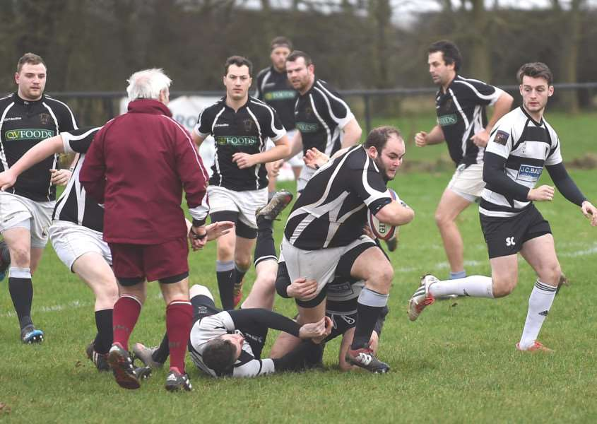 Action from Kesteven's win over Belper on Saturday. Photo: Toby Roberts