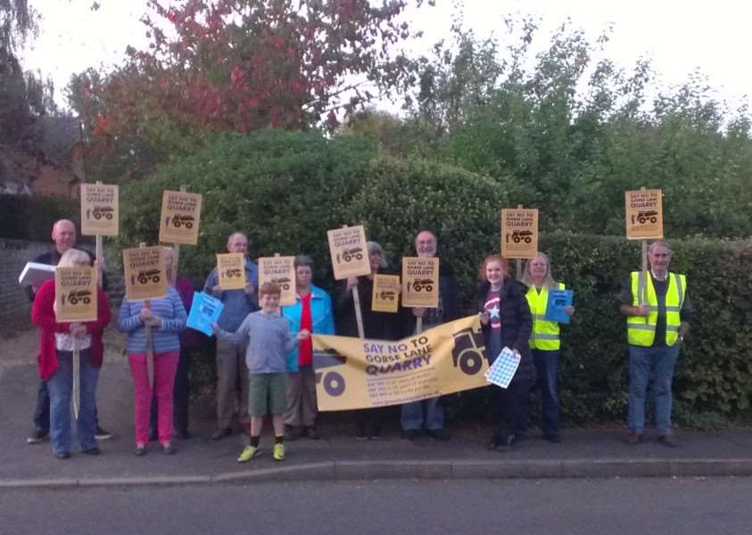 Members of Gorse Lane Quarry Action Group.