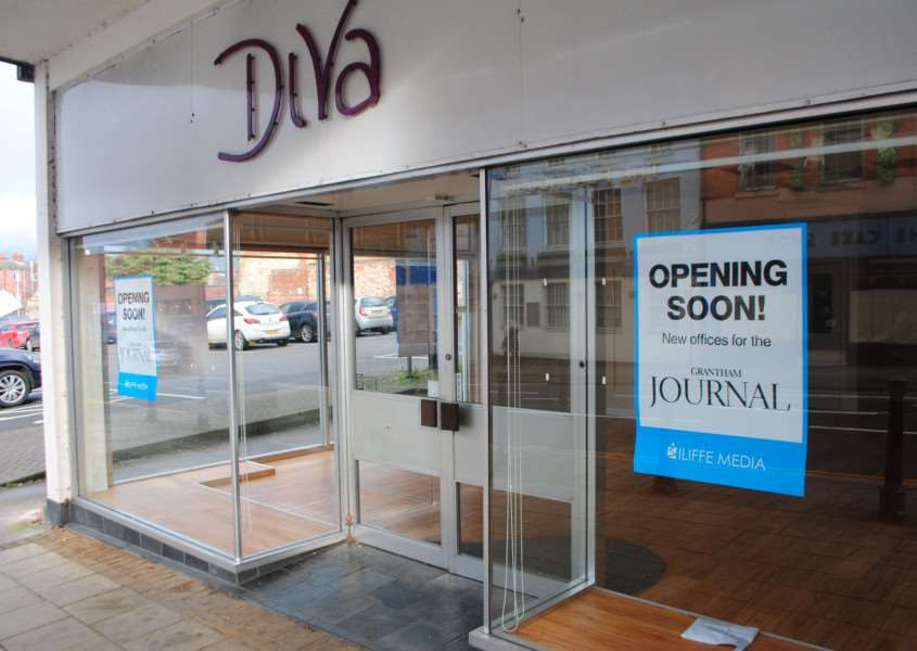 The new Grantham Journal office in Watergate. It used to be womenswear shop Diva.