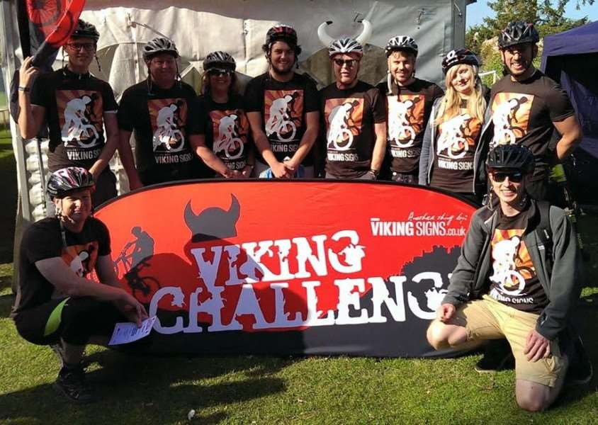 Viking Signs team takes part in the Viking Challenge, of which it is a sponsor