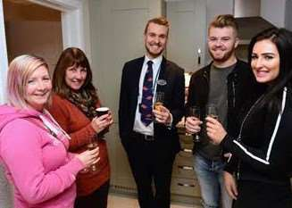 New neighbours gather for pre-Christmas drinks