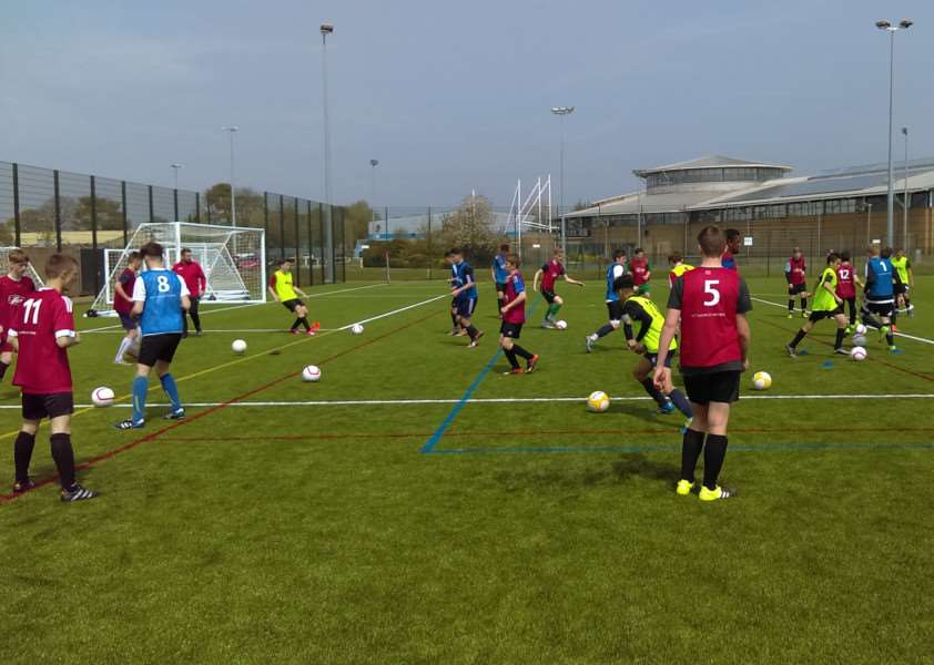 Grantham Town Football Academy's first trial.