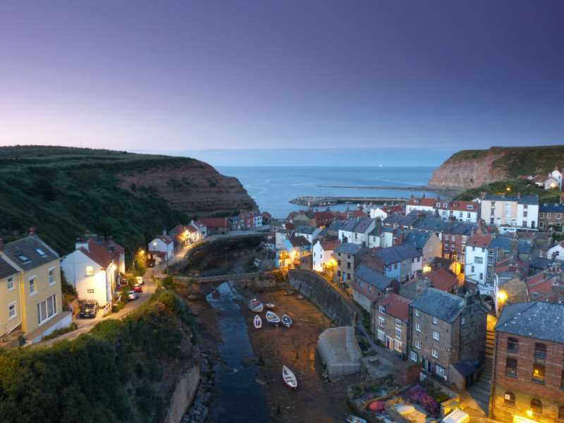 WINNER - Jane Segaran, Staithes Yorkshire at the end of a summer's day