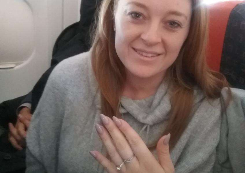 Hannah Pacey with her ring