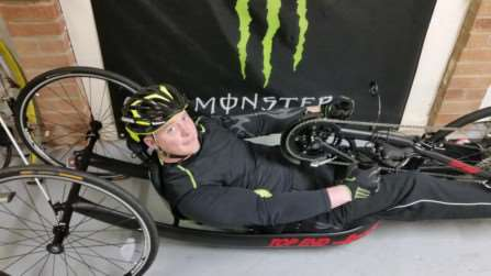 Dan Metcalfe-Hall is already training for competitions, as he aims to be among the best handcyclists in the country.