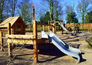 The new-look adventure playground at Belton House.