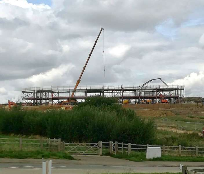 Work on the new Poplar Farm School in Grantham is well under way.