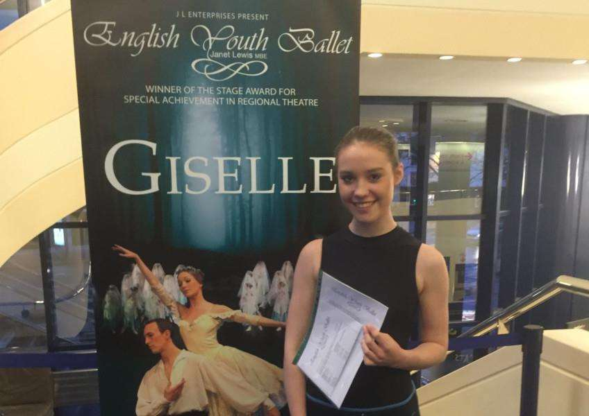 Talented young Stathern dancer Rosie Fairbrother, of Belvoir Dance Academy, has successfully auditioned for English Youth Ballet and will perform alongside professional ballerinas in Giselle at the Concert Hall in Nottingham in July. EMN-160521-151922001