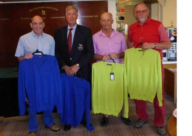 Belton Park Men's Am-Am winners with their prizes, from left - Alistair Holmes, captain Tony Nickson, Ben Bayliss and Ian Whyte. Missing is Pat Doyle.