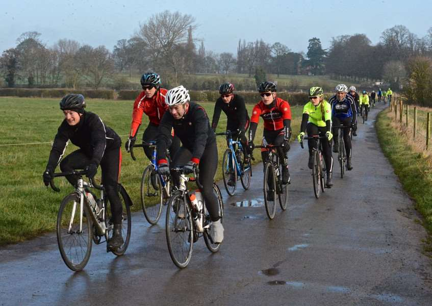 Witham Wheelers out on the road on Sunday. Photo: Alan East