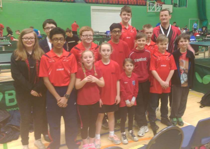 Cliffedale Chandlers TTC volunteers at national finals.