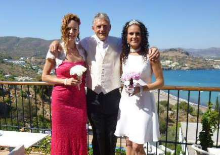 Karl Bullimore with his daughters Karla and Kelly.