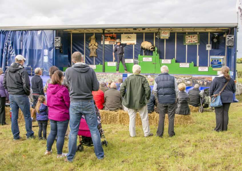 Visitors to Corby Glen sheep show