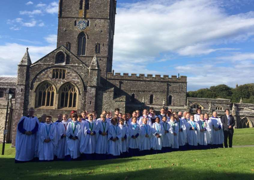 St Wulfram's choir spent a week singing in St Davids Cathedral, Pembrokeshire earlier this month.