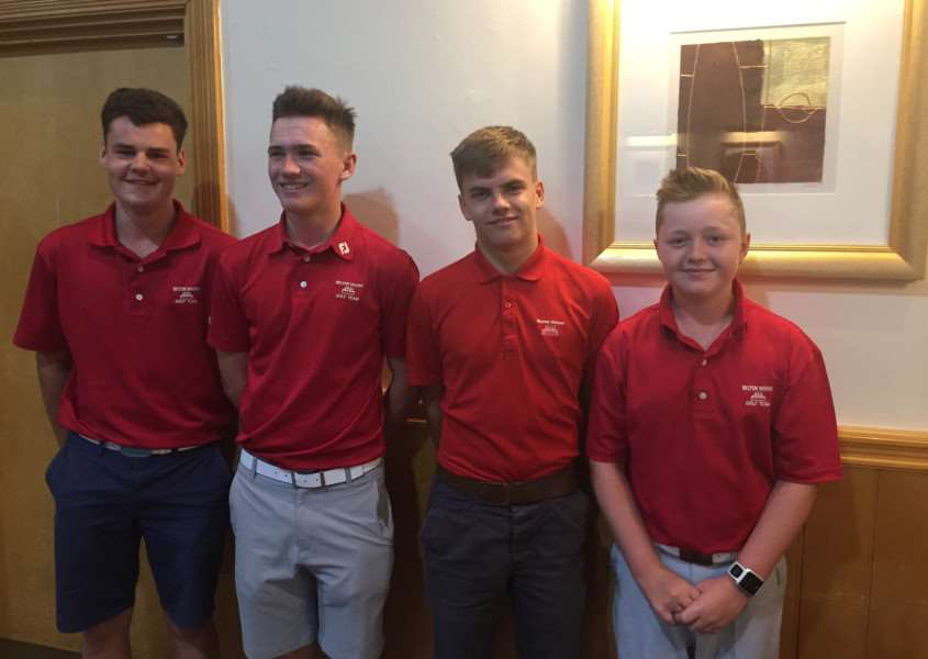 Belton Woods' winning Juniors team.
