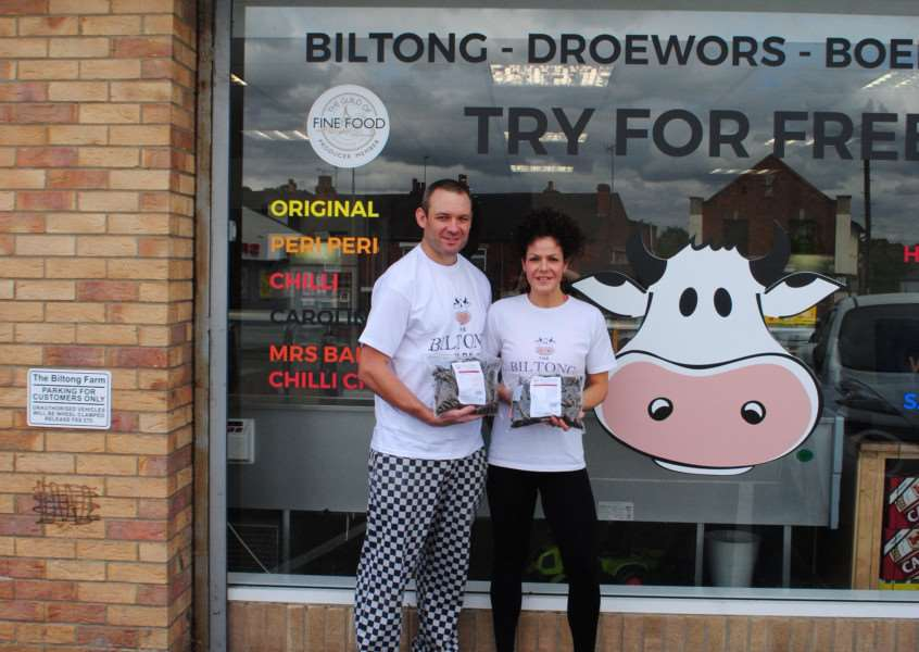 Gavin and Rebecca Smith run The Biltong Farm in Grantham.