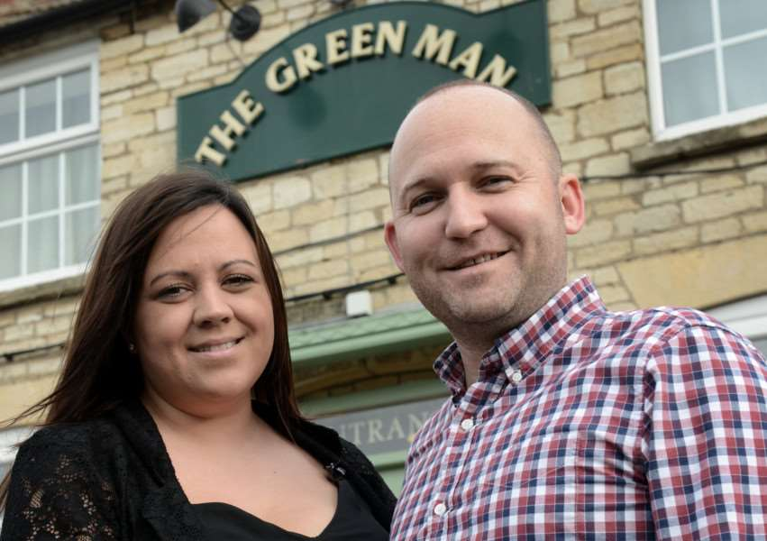 Phil and Leanne Docherty took over The Green Man two years ago.