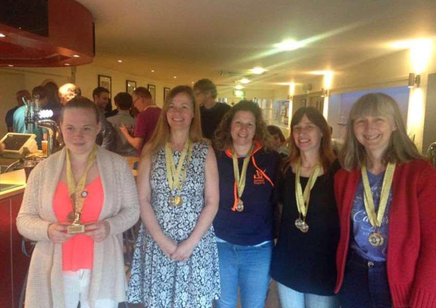 Pictured, from left, are Katie Wells, Alison Clare, Liz Milne, Cathy Kennedy and Kath Newell. gAjtww0zyBmJRzQtVUbE