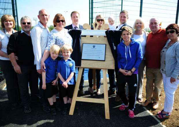 England footballer Sue Smith opened the new 3G pitch at Charles Read Academy in Corby Glen.