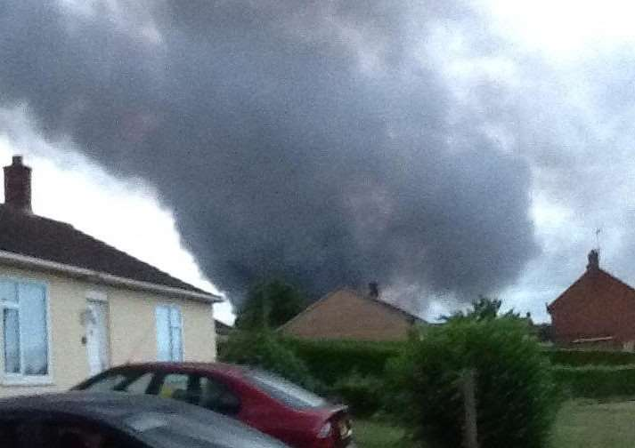 Reader Sin�ad Ritchie sent us this picture of the smoke coming from the fire
