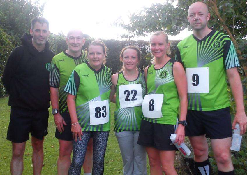 Pictured from left are Richard Payne, Robert McArdle, Nichola Cottam, Charnia Kirk, Holly Durham and Tom Durham.