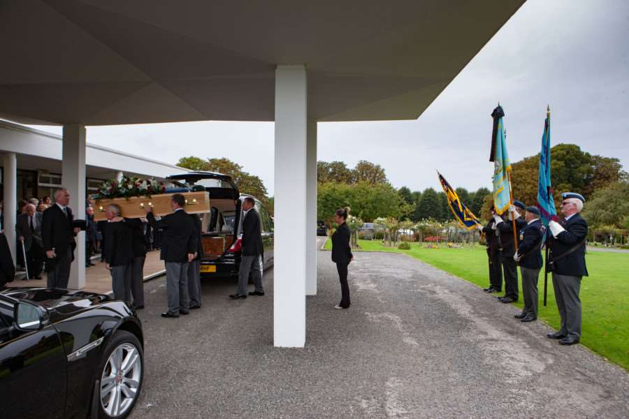The Funeral of SGT Ray Johnson, Ray was a WWII Veteran with only 3 surviving family members. Ray Died the day before his 96th Birthday on 3rd September 2016. Picture by Terry Harris. THA
