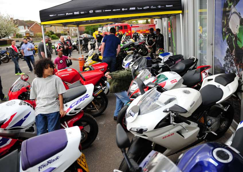Visitors browse the variety of bikes on offer.