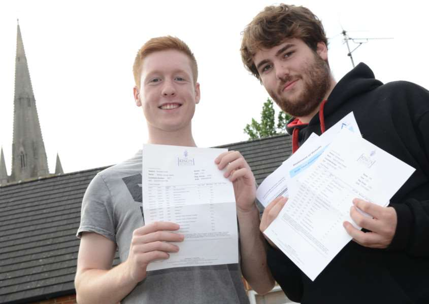 A levels, The King's School: Will Jakes, David Theisler