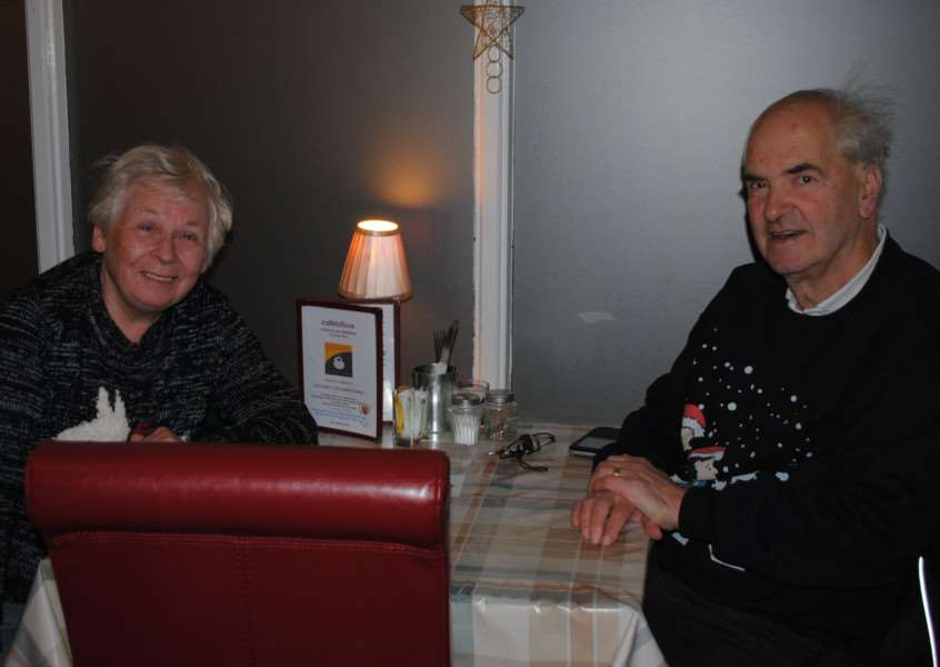 Customers Bill and Sheena Berridge were keen to show their support.