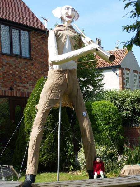 The Big Friendly Giant in the Allington scarecrow competition.