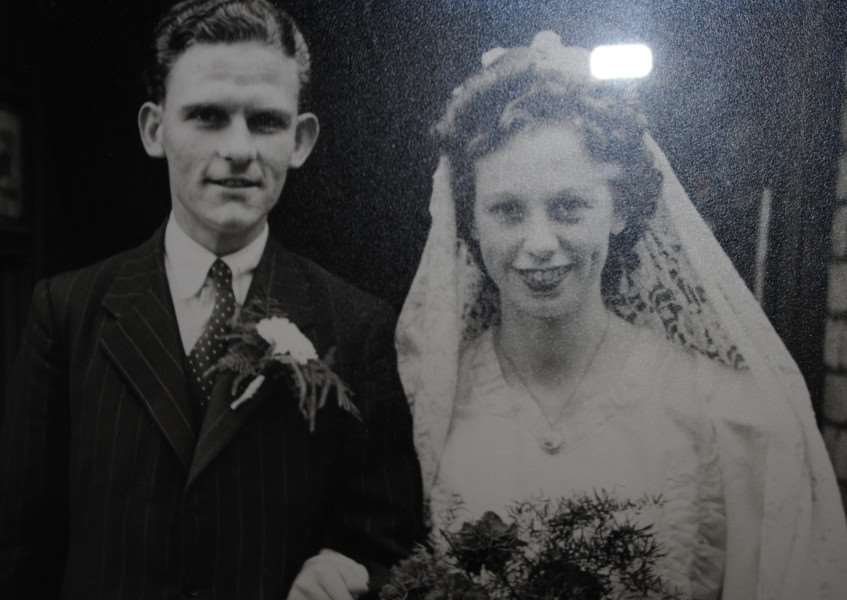 Ron and Barbara Venables on their wedding day