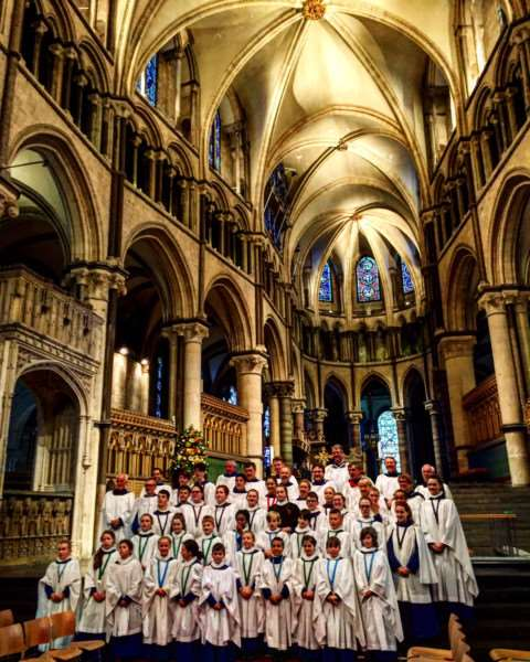 St Wulfram's Choir was invited back to sing at Canterbury Cathedral.