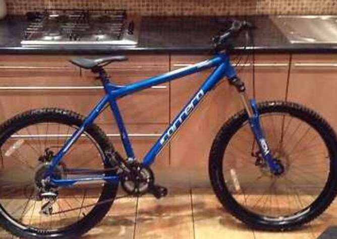 The Carrera Centos bike stolen from Cycle Sport in Grantham.